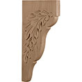 "1 3/4""W x 7 3/4""D x 14""H, Oak Leaf Bracket"