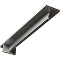 "3""W x 18""D x 2""H Heaton Hidden Support Steel Bracket w/ 14"" Support Depth, Stainless Steel"