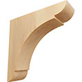 "1 3/4""W x 6""D x 6""H Small Olympic Wood Bracket, Red Oak"