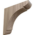 "1 3/4""W x 6""D x 6""H Small Olympic Wood Bracket, Walnut"