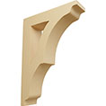 "1 3/4""W x 6 1/2""D x 9""H Small Avila Wood Bracket, Alder"