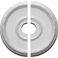 """16 1/2""""OD x 3 1/2""""ID x 1 1/2""""P Medea Ceiling Medallion, Two Piece (Fits Canopies up to 5 1/2"""")"""
