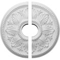 "18""OD x 3 1/2""ID x 1 3/4""P Edinburgh Ceiling Medallion, Two Piece (Fits Canopies up to 5 1/4"")"