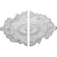 "30 1/2""W x 20""H x 1 1/2""ID x 1 1/2""P Strasbourg Ceiling Medallion, Two Piece (Fits Canopies up to 1 1/2"")"