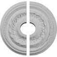 "15 3/4""OD x 3 1/4""ID x 1""P Galway Ceiling Medallion, Two Piece (Fits Canopies up to 3 1/4"")"