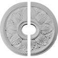 "18 1/8""OD x 3 1/2""ID x 2 3/4""P Edinburgh Ceiling Medallion, Two Piece (Fits Canopies up to 5 1/8"")"