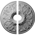 "23 7/8""OD x 4""ID x 2 1/8""P Ashley Ceiling Medallion, Two Piece (Fits Canopies up to 4 3/4"")"