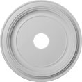 "19""OD x 3 1/2""ID x 1 1/2""P Traditional Ceiling Medallion (Fits Canopies up to 3 1/2"")"