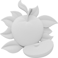 "2""W x 2""H x 3/8""D Extra Small Apple Onlay"