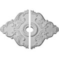 "37""W x 26""H x 1 3/8""P Piedmont Ceiling Medallion, Two Piece (For Canopies up to 6"")"